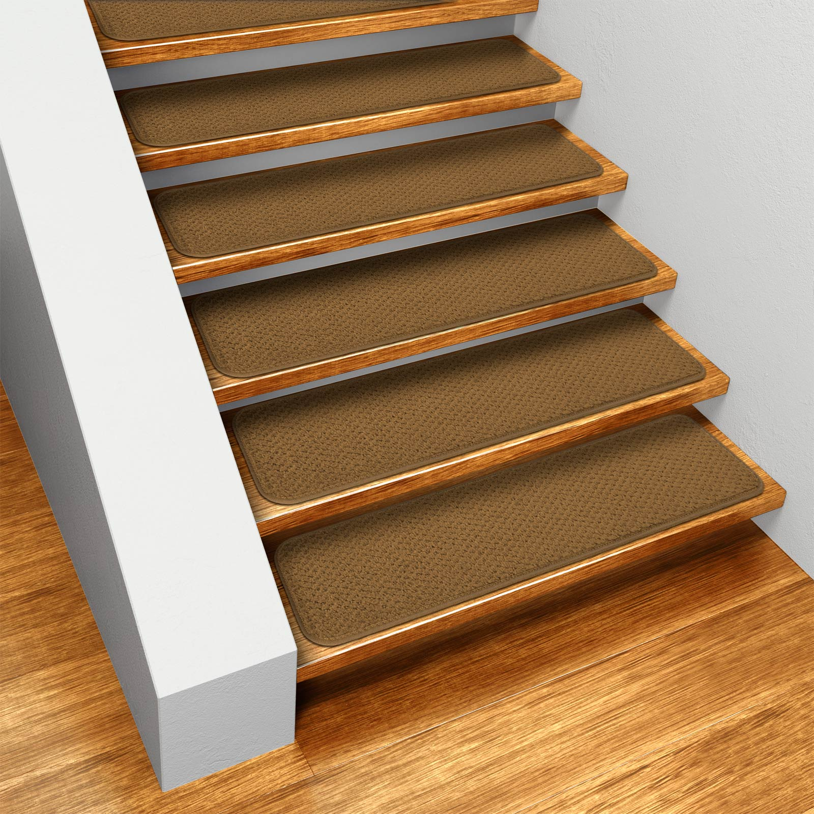 House, Home and More Set of 12 Skid-resistant Carpet Stair Treads - Bronze Gold - 8 In. X 23.5 In. at Sears.com